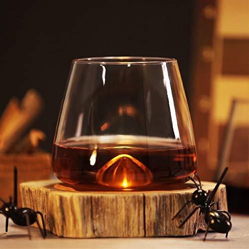 ZMK-720 Cristalería Bañera De Hidromasaje Diseño Cubos De Hielo De La Roca del Whisky Chivas Copa De Brandy Red Copas De Vino #S888 (Color : A)