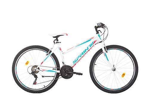 BIKE SPORT LIVE ACTIVE 26 Zoll Bikesport Adventure Mädchenfahrrad Damen Fahrrad Mountainbike, Shimano 18 Gang (Weiß Rosa)