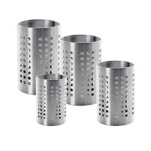 ikea cutlery trays WhopperIndia Kitchen Utensil Holder - Utensil Crock - Caddy Utensils Storage Stainless Steel (Pack Of 4) 5