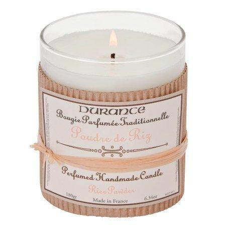 DURANCE Bougie Parfum Poudre de Riz