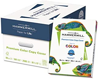 Hammermill Products - Hammermill - Cover Stock, 60lb, 98 Brightness, Letter, White, 250 Sheets - Sold As 1 Pack - Certain to create a vivid first impression. - Same formulation as the Hammermill Color Copy Paper to ensure your signs or presentation covers look consistently great from start to finish. - Specifically formulated for high-speed digital color copiers and laser printers. - Guaranteed for use in equipment that accepts cover weight papers. -
