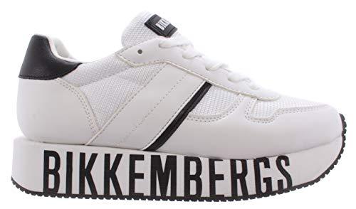 BIKKEMBERGS Damen Mädchenschuhe Sneakers Junior Leder Weiss