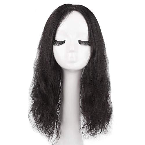 Mode Art Party cosplay décorations fournitures de vraies femmes cheveux humains Topper 4,7 'x 4,7' femmes bouclées en soie bouclées perruques bouclées pour les cheveux de la couronne supérieur