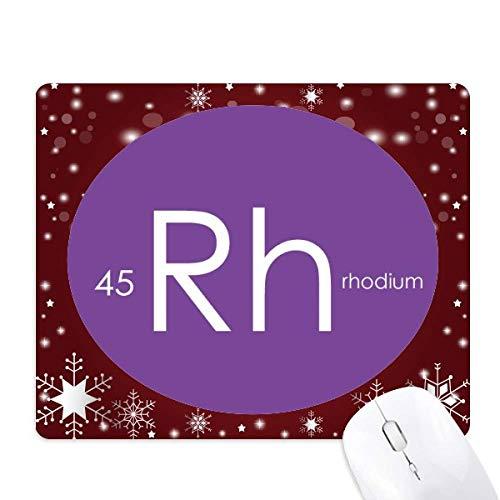 la chimie des éléments tableau des métaux de transition, rhodium rh tapis de souris en hiver flocon de neige