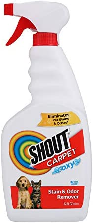 Shout Carpet Stain Remover And Odor Eliminator Spray Completely Removes Tough Urine Stains Prevents product image