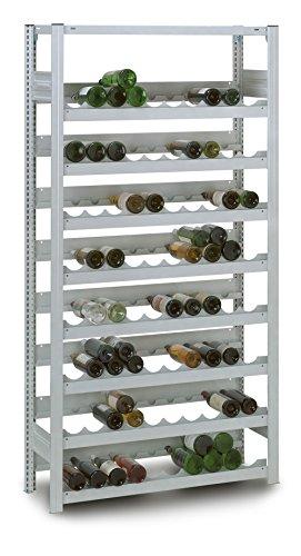 Profi Weinregal aus Metall für 152 Flaschen, 200x106x34 cm, Gastro   Industrie Flaschenregal - Grundregal verzinkt