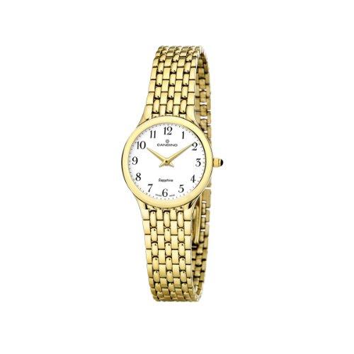 Candino 4365/1 - Reloj de Mujer de Cuarzo, Correa de Acero Inoxidable Color Oro