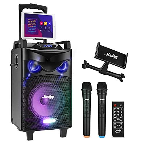 Moukey Karaoke Machine Speaker,540W Peak Power Bluetooth 5.0 Karaoke...