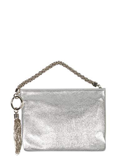 Jimmy Choo Luxury Fashion Donna CALLIEMEASILVER Argento Borsa A Mano   Primavera Estate 19