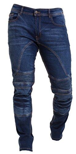 Qaswa Uomo Moto Jeans Protezione Slim Fit Motorcycle Pantaloni Biker Pants