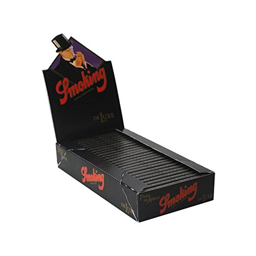 Smoking Medium Deluxe 1 1/4, Medida Hoja:77x44 mm (25 libritos 50 hojas)