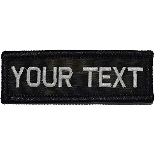 Customizable Text 1x3 Patch w/Hook Fastener – Patch (Multicam Black)