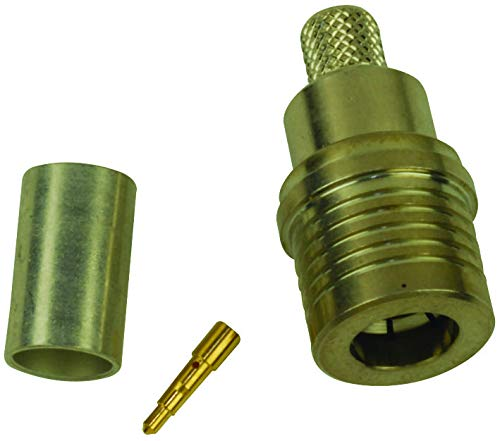 TE CONNECTIVITY - 1408333-7 - RF/Coaxial Connector, QMA Coaxial, Straight Plug, Crimp, 50 ohm, RG58, RG141, RG303, Brass
