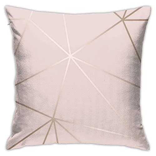 lymknumb Funda de cojín cuadrada suave de mármol de oro rosa, para decoración de sofá de 45 x 45 cm, muy cómoda