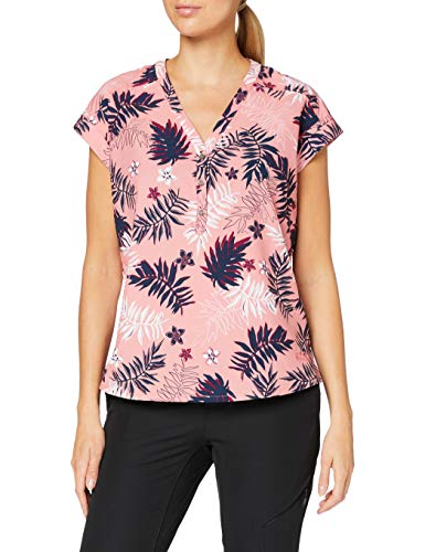 Jack Wolfskin Damen Victoria Leaf Shirt Bluse, Rose Quartz All Over, M