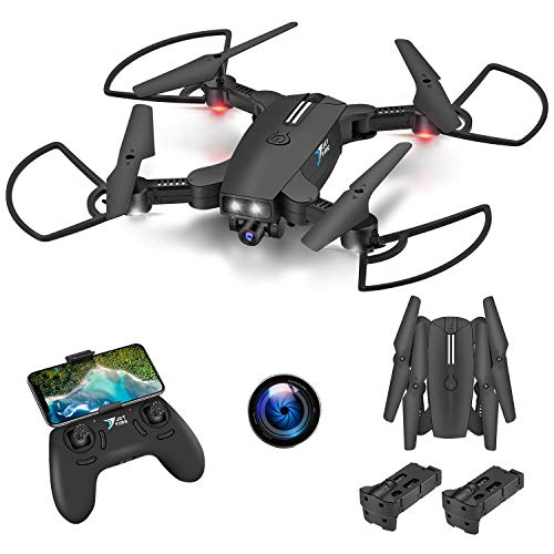 AOKESI Drones with 720P Camera for Adults Beginners Long Flight Time Drones with 2 Modular Batteries, GPS FPV RC Quad Copter, 3D Flips, Headless Mode