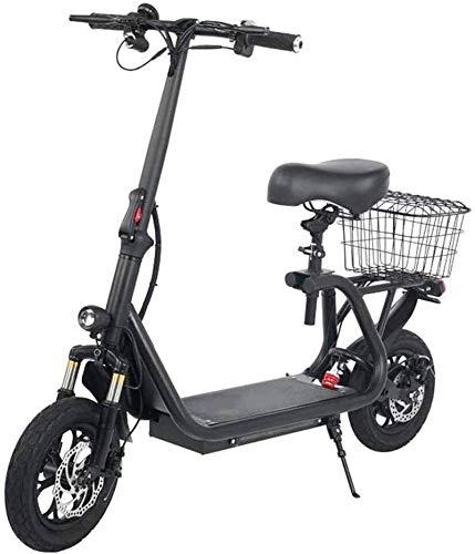 Bicicleta eléctrica de nieve, Bicicletas eléctricas rápida for adultos asiento de bicicleta eléctrica Triple absorción de choque Velocidad máxima 43km / h, 45 km de largo alcance de dos ruedas de bate