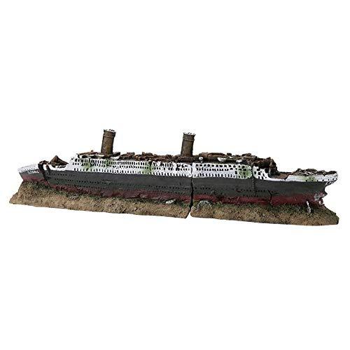 Acuario Barco Naufragio Decoraciones Resina Titanic Perdió Barco nauf