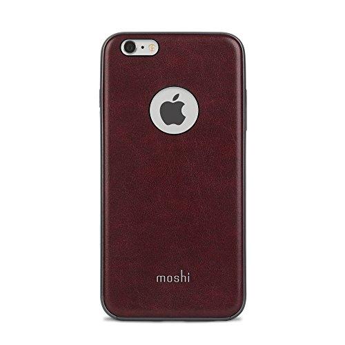 Moshi iGlaze Napa - Carcasa de cuero vegano para Apple iPhone 6 y 6S, color rojo borgoña