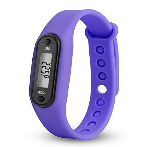 DWEMM Digitaler LCD-Schrittzähler, Laufstrecke, Kalorienzähler, Handgelenk, Frauen, Männer, Sport, Fitness, Uhrenarmband, Geringer Batterieverbrauch Und Automatischer Schlaf