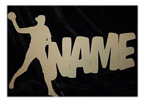 Schlummerlicht24 3d Led Deko-Lampe'Handball Frau Mädchen' mit Name, Geschenk für Sport Trainer Frauen Damen Herren
