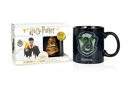 Harry Potter Slytherin House 20oz Heat Reveal Ceramic Coffee Mug - Heat Sensitive Color Changing & Image Morphing Tea Cup for Lattes, Cappuccinos, Hot Chocolate or Warm Butterbeer - Unique Gift Idea