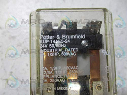 TE CONNECTIVITY/POTTER & BRUMFIELD KUP-14AE5-24 POWER RELAY, 3PDT, 24VAC, 10A, PLUG IN