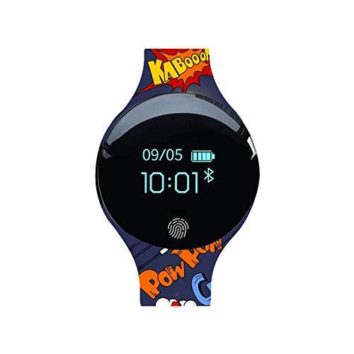YAUO Brazaletes Deportivos, Brazaletes De Gimnasia, Smart Bracelet Silicone Bluetooth Watch Camouflage Sports Meter