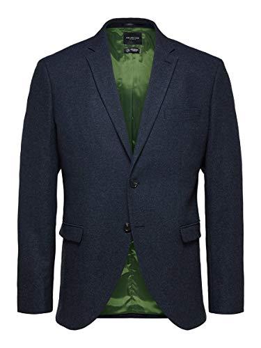 SELECTED HOMME Male Blazer Slim Fit 94Medium Blue Melange