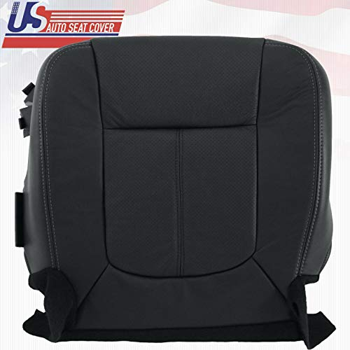 2011 2012 Fits Ford F250 F350 Lariat Driver Bottom Perforated Leather Seat Cover Blk