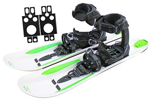 Crossblades - Racchette da neve con attacco softboot per scarpe da trekking con racchette da neve per escursioni, racchette da neve, sci, sistema di sci