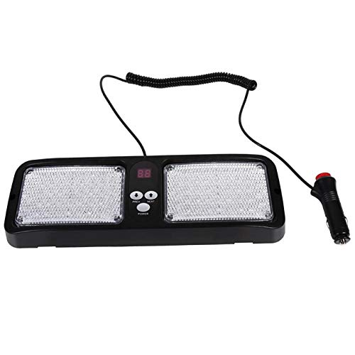 Akozon Luces de advertencia de visera solar de 86 LED y 12 V Lámpara de baliza intermitente de emergencia para coche camión Super brillante(rojo + blanco)