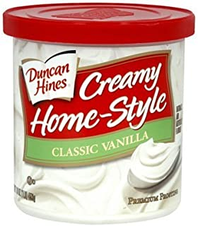Duncan Hines, Creamy Home-Style Classic Vanilla Frosting, 16oz Tub (Pack of 3)