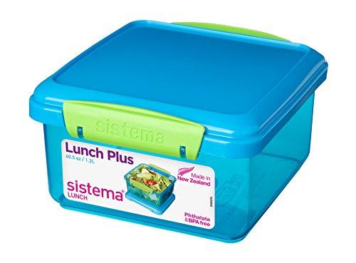 Sistema to Go Boîte Lunch Plus avec Couverts 1,2 L Assortiment de Couleurs, Plastique, Coleurs Assorties, 1 Item