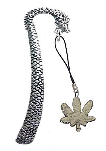 Kruid Cannabis Ganja Leaf FT41 2.6x2.6cm Gemaakt van Fijn Engels Tinnen Op een DRAGON Bladwijzer gepost door ons geschenken voor alle 2016 van DERBYSHIRE UK