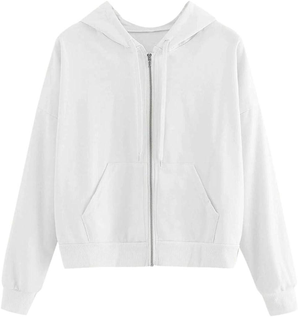 Hemlock Teen Girls Hooded Sweatshirt Butterfly Print Long Sleeve Tops Zipper Pocket Hoodie Jacket Juniors Tops