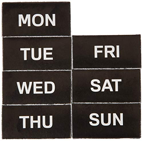 MasterVision 2 x 1 Inches Days of The Week Calendar Magnetic Tape, Black/White (BVCFM1007)
