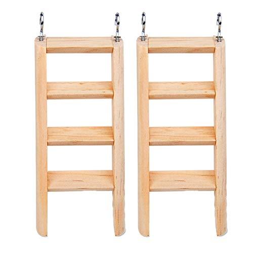 SHULI Hamster Speelgoed Natuurlijke Houten Kleine Huisdier Hamster Kooi Accessoires Ladder 2-delige Set