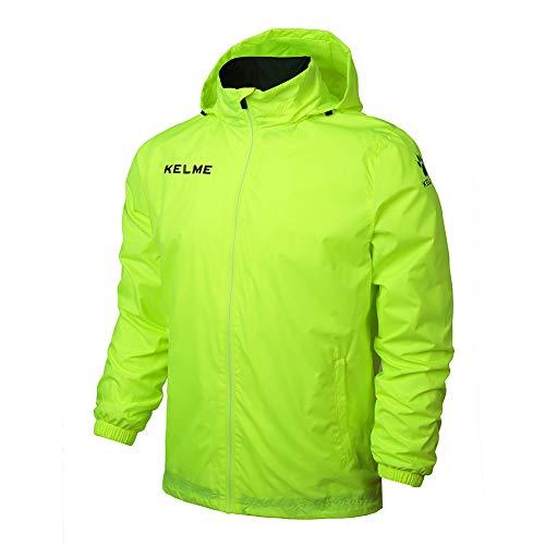 KELME Adult Windproof Jacket Chubasquero, Hombre, Neon Green, 4XL