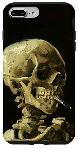 iPhone 7 Plus/8 Plus Skeleton Burning Cigarette Vincent Van Gogh Oil Painting Case