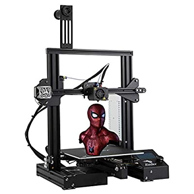 Creality Ender 3 3D Printer, SUNCOO Fully Open Source FDM Prototyping Machine, UL/CE/ROHS Approved DIY Prniters with Resume Printing All Metal Frame Build Area of 220x220x250mm