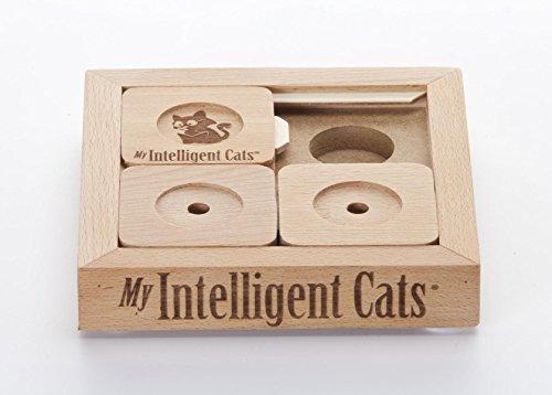 My Intelligent Cats Interaktives Katzenspielzeug aus Holz Cat' Sudoku Basic