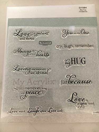 Close To My Heart D1584 Big Hug Occasions My Acrylix Stamp Set CTMH