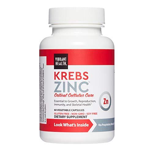 Vibrant Health, Krebs Zinc, Immune, Bone and Cellular Health Formula, 60 Capsules