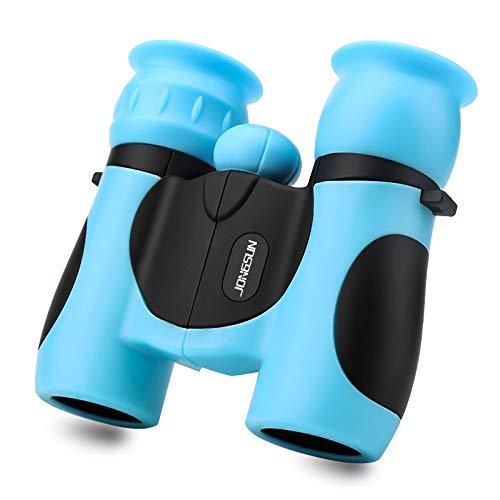JONGSUN Binocolo Bambini 8x21 Alta Risoluzione - Set Regalo Binoculars Kids per Ragazzi e Ragazze (Blu)