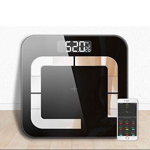 Body Fat Scales Body Weigh Mi Scale Smart Bathroom Body Fat Weighing Scale Balance Bluetooth Human Weigt Bmi Scale Floor 20 Data Black