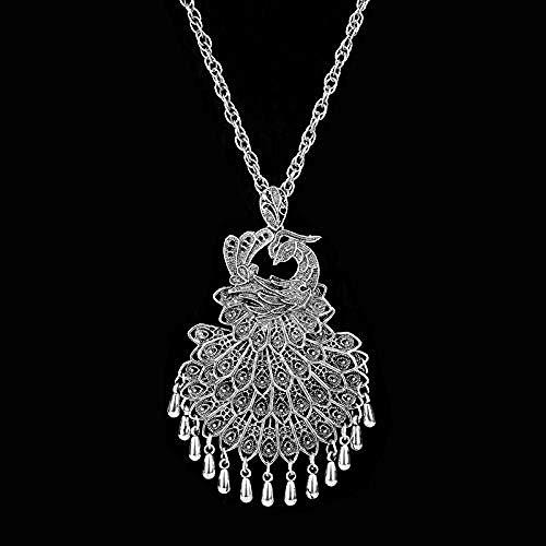 Xianglsp Co.,ltd Joyería de Moda para Mujer, Collar Personalizado Popular, Colgantes de Pavo Real, Collares, Collar de Cadena Larga para Mujer