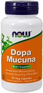 Now Foods Mucuna DOPA 15% Extract, 90 VCaps (Pack of 4)