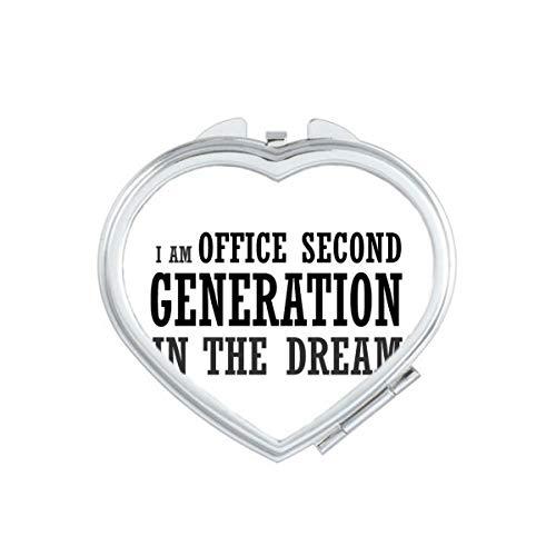 DIYthinker Bureau de deuxième génération Coeur Miroir Compact Maquillage Portable Mignon Cadeau Miroirs de Poche à la Main Multicolor