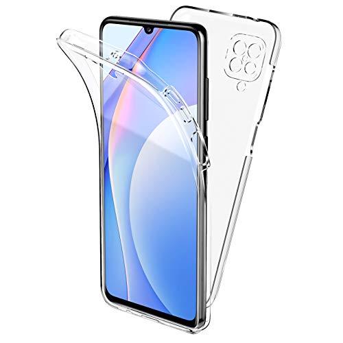 Oududianzi Cover per Samsung Galaxy A12, 360 Gradi Protezione Progettata, Trasparente Ultra Sottile in Silicone TPU Anteriore e PC Indietro Custodia Bellezza Originale Doppia Protezione -Trasparente
